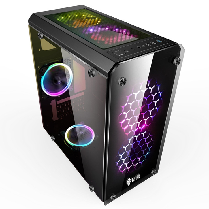 2018 custom Tower chassis computer case pc gaming case