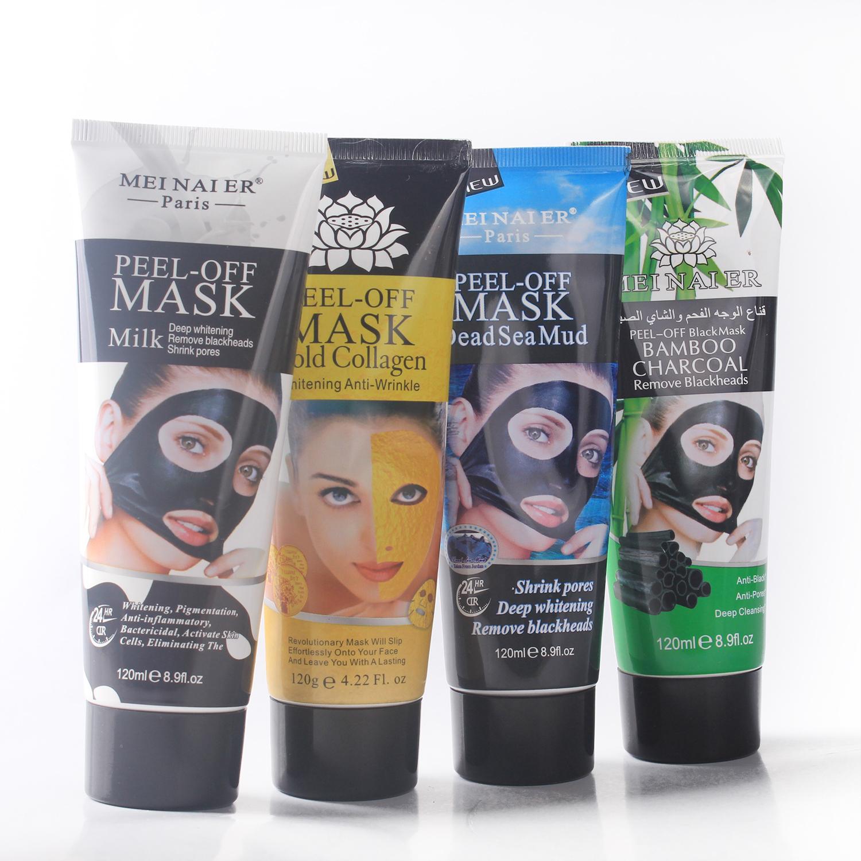 120 gram Zwarte kop remover Masker OEM peel off black gezichtsmasker