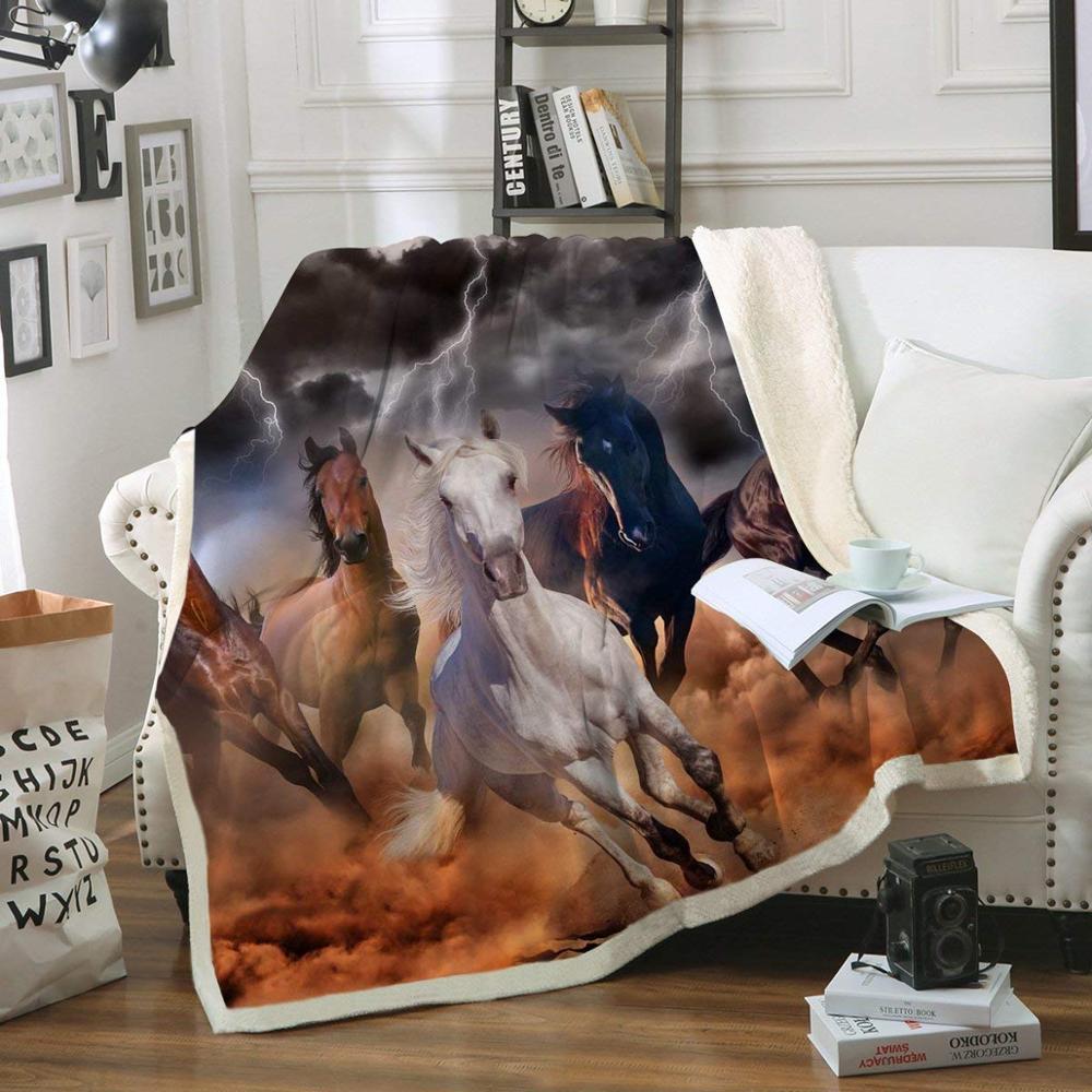 بطانية شيرب بمقاس 50 × 60 بوصة مخصصة بسعر الجملة ، بطانية صوف مطبوعة ثلاثية الأبعاد