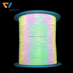 Double side rainbow reflective yarn / iridescent reflective thread for knitting sweater