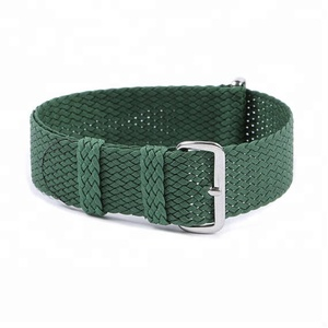 Old-Stock Perlon 1960s Vintage Watch Band 20mm Braided Woven Mesh Divers Strap