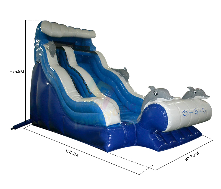 18ft Outdoor Kids Playground Dolphin Splash Pool Water Park Inflatable  Water Slide Cheap Blow Up Air Portable Water Slide - Buy Splash Inflatable