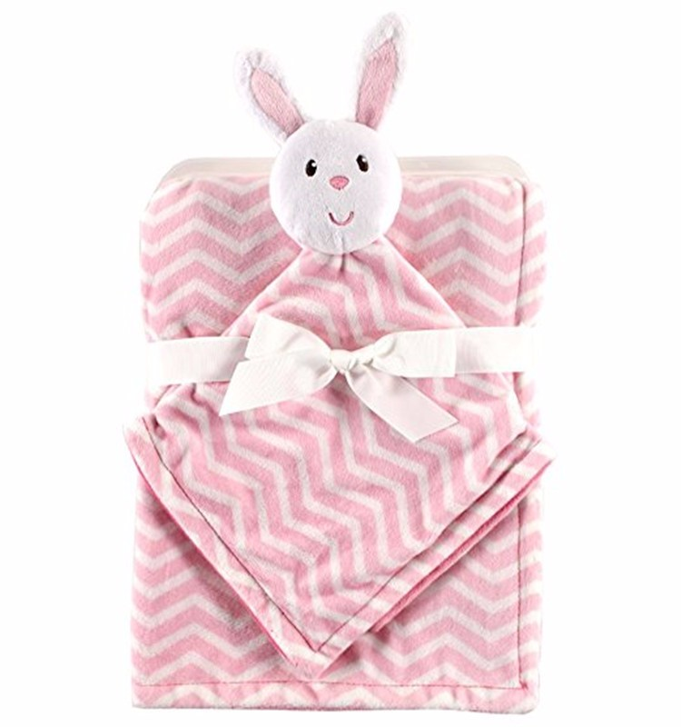 Newborn Boy Girl Cute Cotton Plush Receiving Baby Blanket