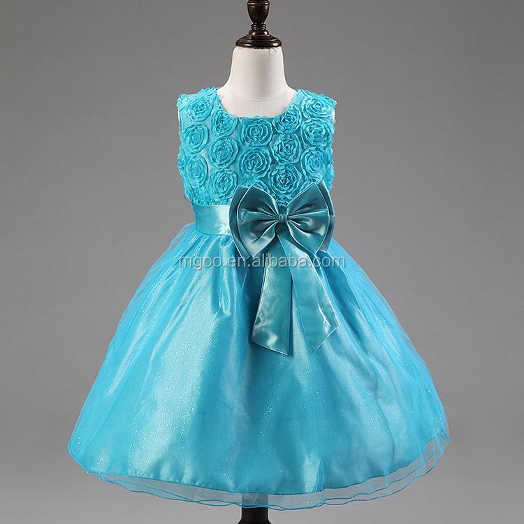e1fb7657da MGOO Tecido Moda Chiffon Vestido Da Menina 1-14 Anos de Idade Vestidos Da  Flor
