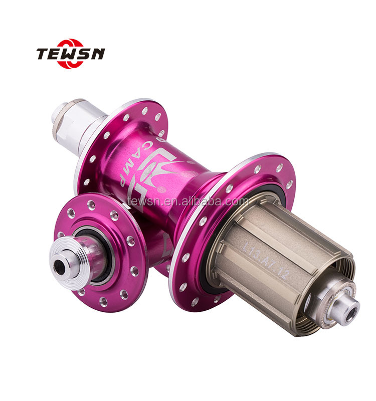 OEM aluminium alloy bike hub with anodised multicolor treatment, CNC Lathe machining service for bicycle hubs