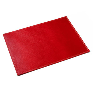 Fashion square dinner place mats leather coasters set table mat
