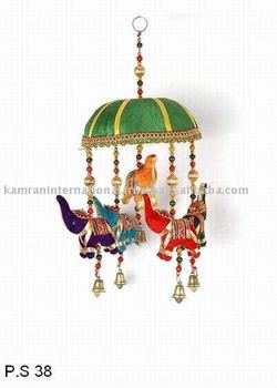 Genial Beautiful Indian Fabric Elephant Wall Door Bell Hangings, Elephant Bell  Wall Hanging,Rajasthani Colorful