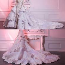 d9645ef5d14be 2019 Mütevazı Suudi Arapça Dantel düğün elbisesi Illusion Uzun Kollu Boncuk  Lüks Mermaid ...