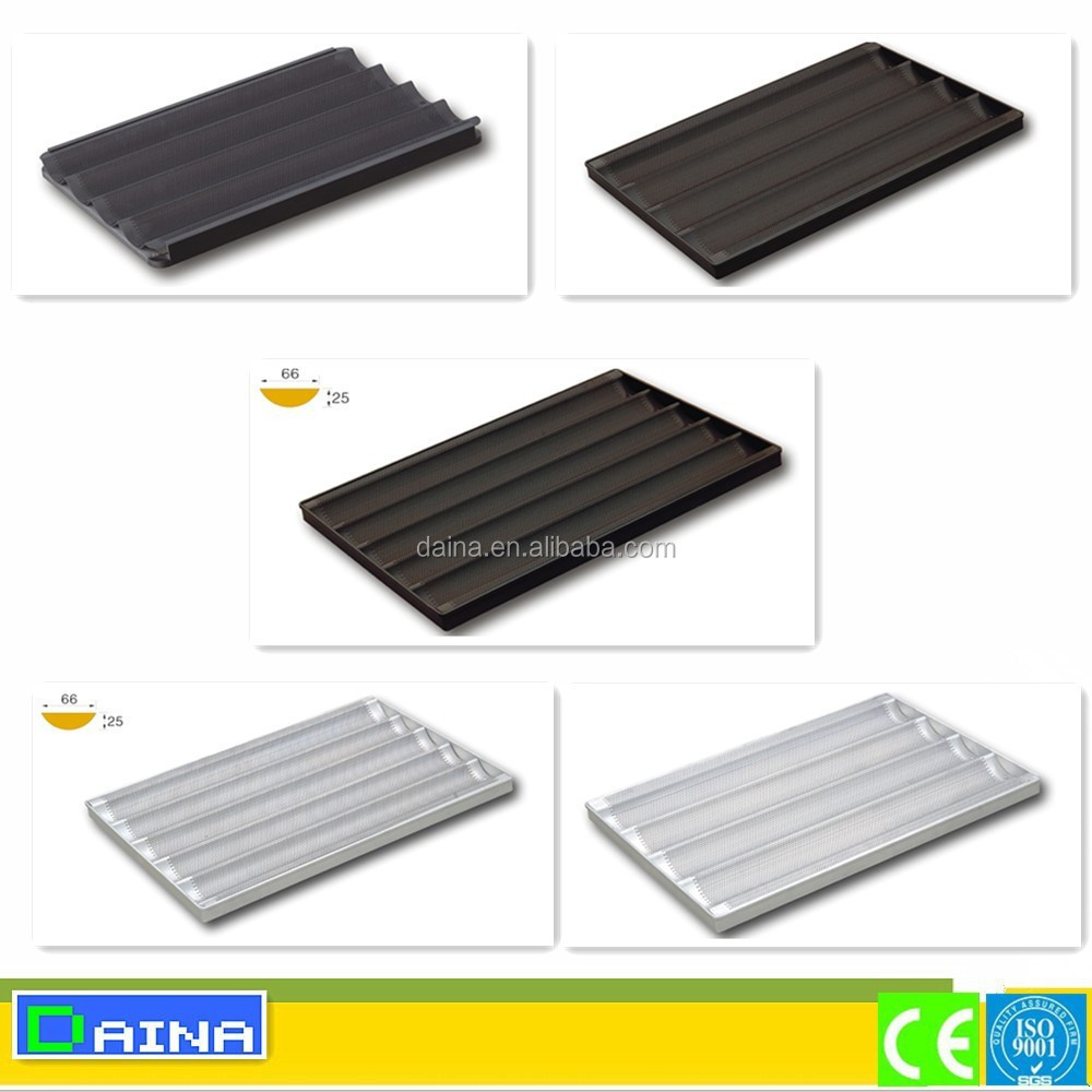 aluminium perforated non stick baking tray, aluminium alloy baguette baking tray