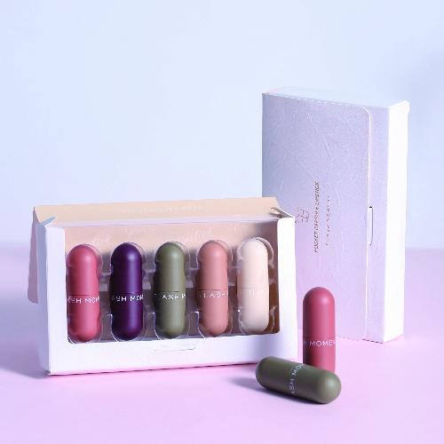 5pcs Matte Long-Lasting Moisturizer Velvet Red Tint Batom Makeup Set Mini Capsule Lipstick Kit фото