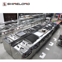 Professional 5 Star Stainless Steel Kitchen Equipment Hotel For Sale