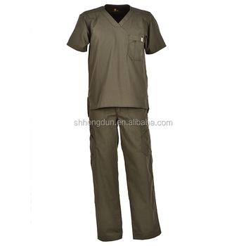 e6131a3900e Unisex Medical Scrub Suit with Pants Hospital Nursing Doctor Uniform Set