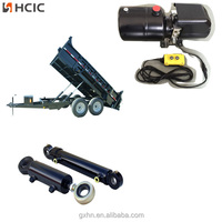 Small telescopic hydraulic cylinder for dump trailer