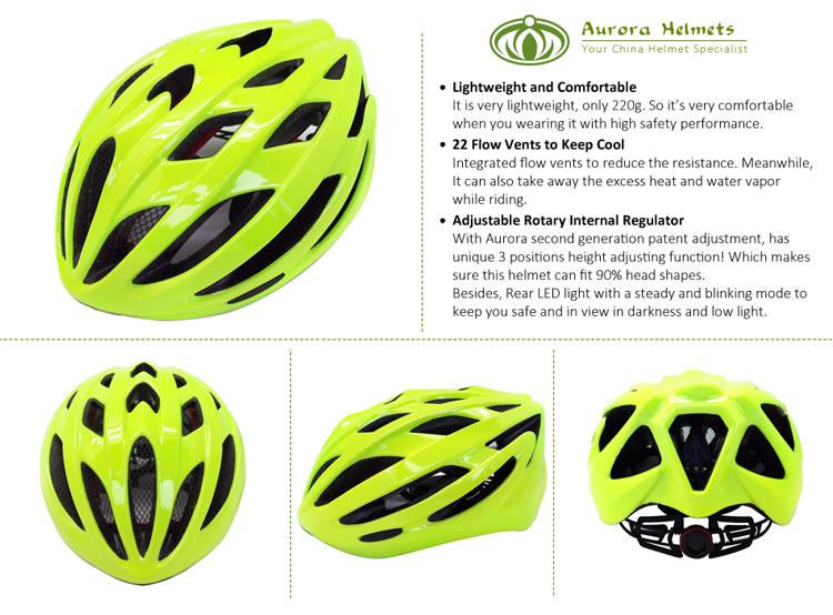 Fluorescent Green Road Racing Bike Helmet 6