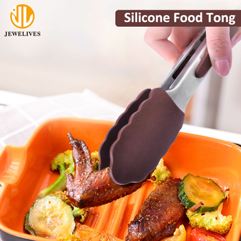 Silicone Food Locking Clip Cooking Serving Tong For Barbecue Bread Grill Cake