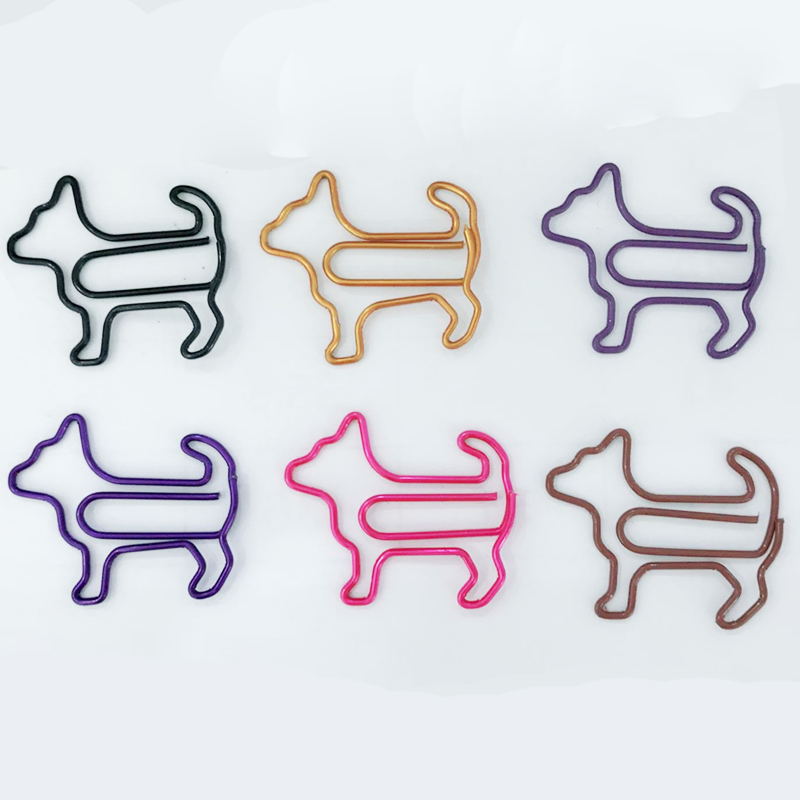 Custom dog shaped metal paper clip holder machine in stock fast shipping