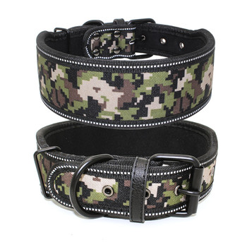 Camo Canvas Dog Collar Flag Dog Collar With Reflective Dog Collar