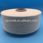 Tussah wild silk material high quality spun noil silk yarn with cheap price