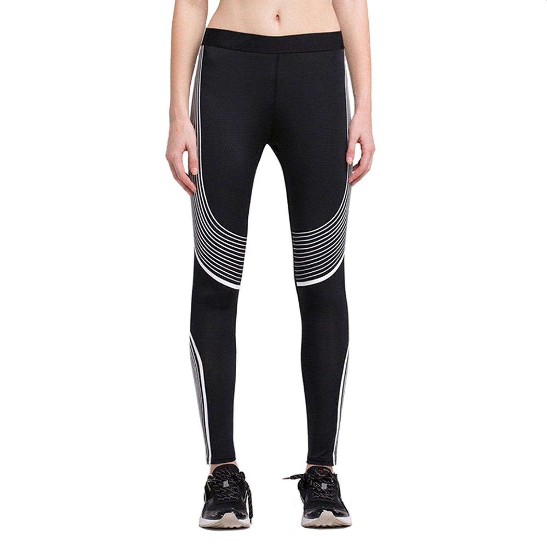 c9d83b58b03ec Get Quotations · Women Compression Tight Pants Running Pants Quick Dry Workout  Yoga Leggings