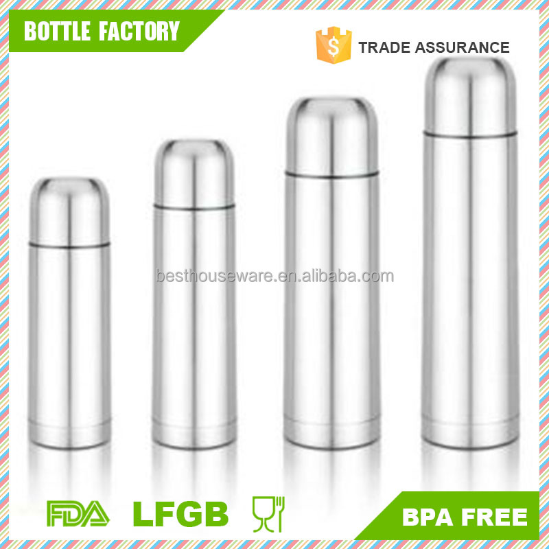 Stainless Steel 18/8 Vacuum Thermos Bullet Flask HOT&COLD