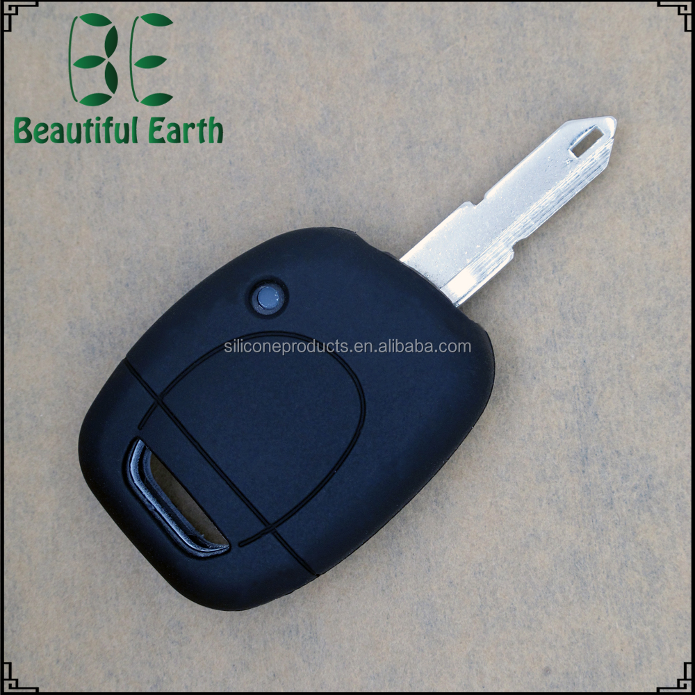 New custom made design silicone car key cover for renault smart