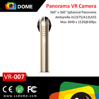 Portable HD 360VR Camera Panoramic 4K WiFi Action Camera