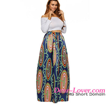 8c1853e405a20 Abstract Floral African Print Navy Long Maxi Skirts With Crop Tops - Buy  Maxi Skirts With Crop Tops,African Maxi Skirts,Long Skirts And Tops Product  ...