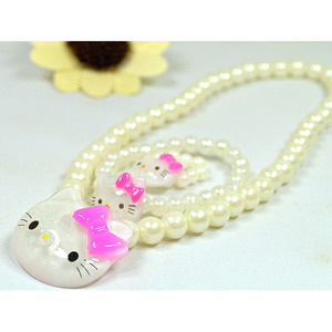 kids jewelry imitation peaerls kids jewelry set wholesale with good price