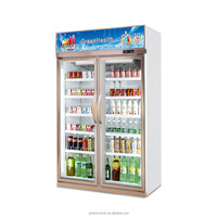 Double glass door bottle cooler / chiller