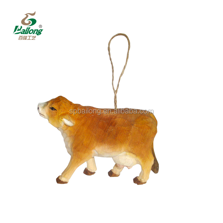 15 years professional factory decorative hand carved wooden cow