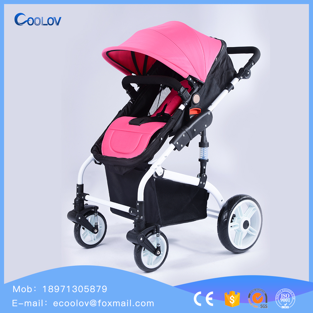 2017 Wholesale Baby Stroller Folding Four Wheel Baby Carriage for 3 years old children