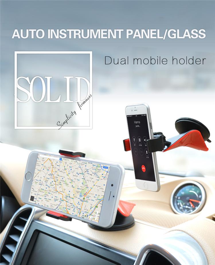 Universal 360 ° en Coche Soporte Montaje Del Parabrisas Panel de control de cualquier tamaño de teléfonos móviles