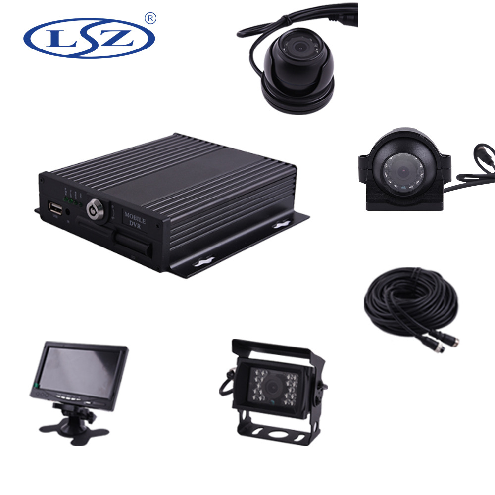 "Hot Sell !!! Economic DIY h.264 4ch dvr cctv camera kit with 7"" LCD Monitor"