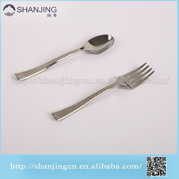 Small Disposable Plastic Fork And Spoon Set