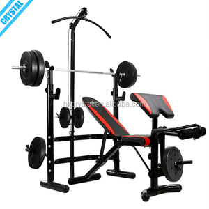 SJ-780 Best price Multi home gym fitness equipment extreme performance weight bench with squat rack