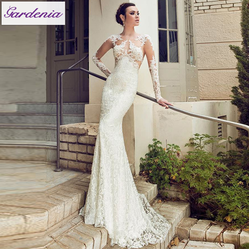 China Long Sleeves Wedding Dress Custom Made Lace Princess: The Best Wedding Dress Custom Made In China Sheath Ivory