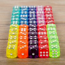 14MM rounded transparent dice/10 kinds of color fine small children gifts toys/14# top grade dice game
