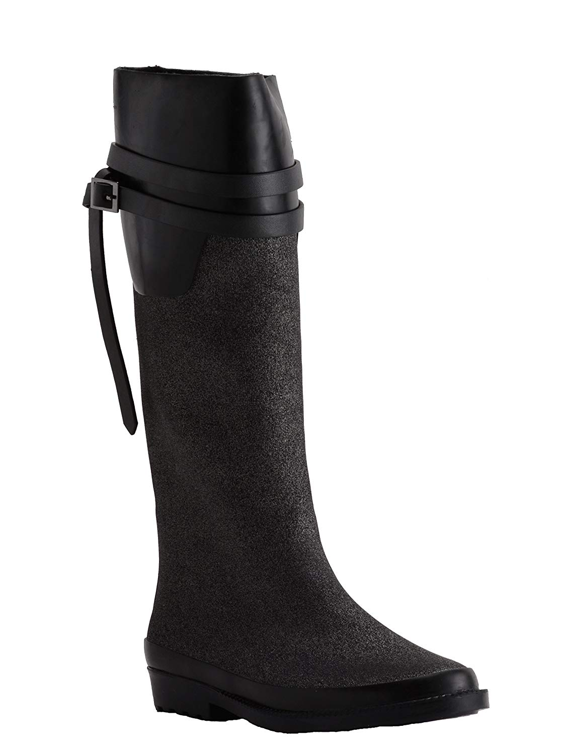 870aac857c6 Get Quotations · Henry Ferrera Womens Ambiance-100 Tall Rain Boots Pewter