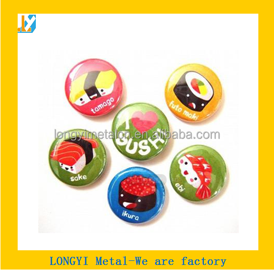 Real low price OEM metal badge pin from hardware factory/make custom metal badges for sale /custom metal magnet name badges