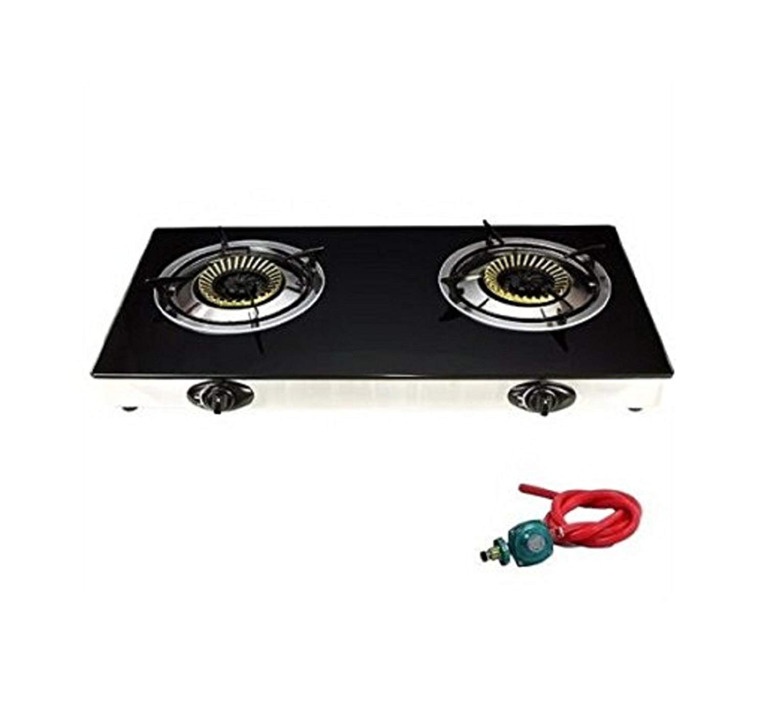 USA Premium Store Gas Range Stove Deluxe 2 Burner Tempered Glass Cooktop Auto Ignition
