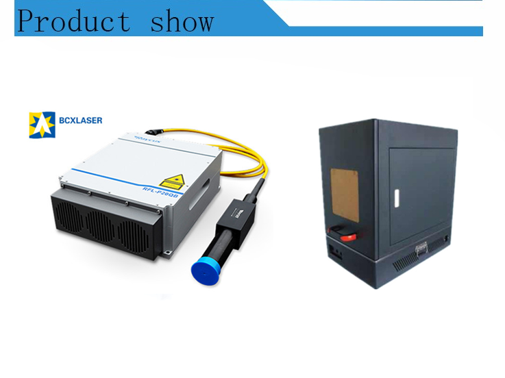 20/30/50/70/100w enclosed fiber laser marking machine for marking on stainless steel/plastic bottle
