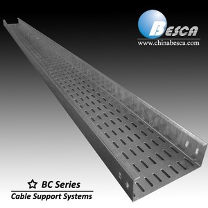 Q235 steel plate Ventilated or Perforated Trough Cable Tray