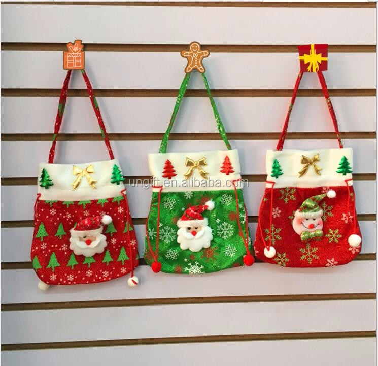 Christmas Snowman Drawstring Gift Candy Bags Wedding Christams Decoration
