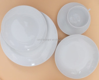 Coup Shape ceramic dinnerware sets restaurant white porcelain dinner set 20pcs fine porcelain dinner set