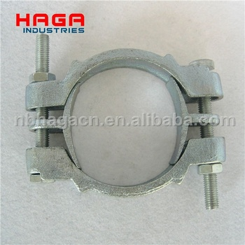 Hot selling Single bolt dual band Double bolt clamp