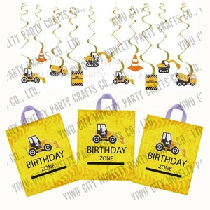 16pck Birthday Zone birthday gift bag construction party supplies kids happy birthday decorations
