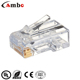 Good quality CAT5E/CAT6 Stranded Solid network cable 8P8C unshielded/shielded Gold Plated conector modular rj45