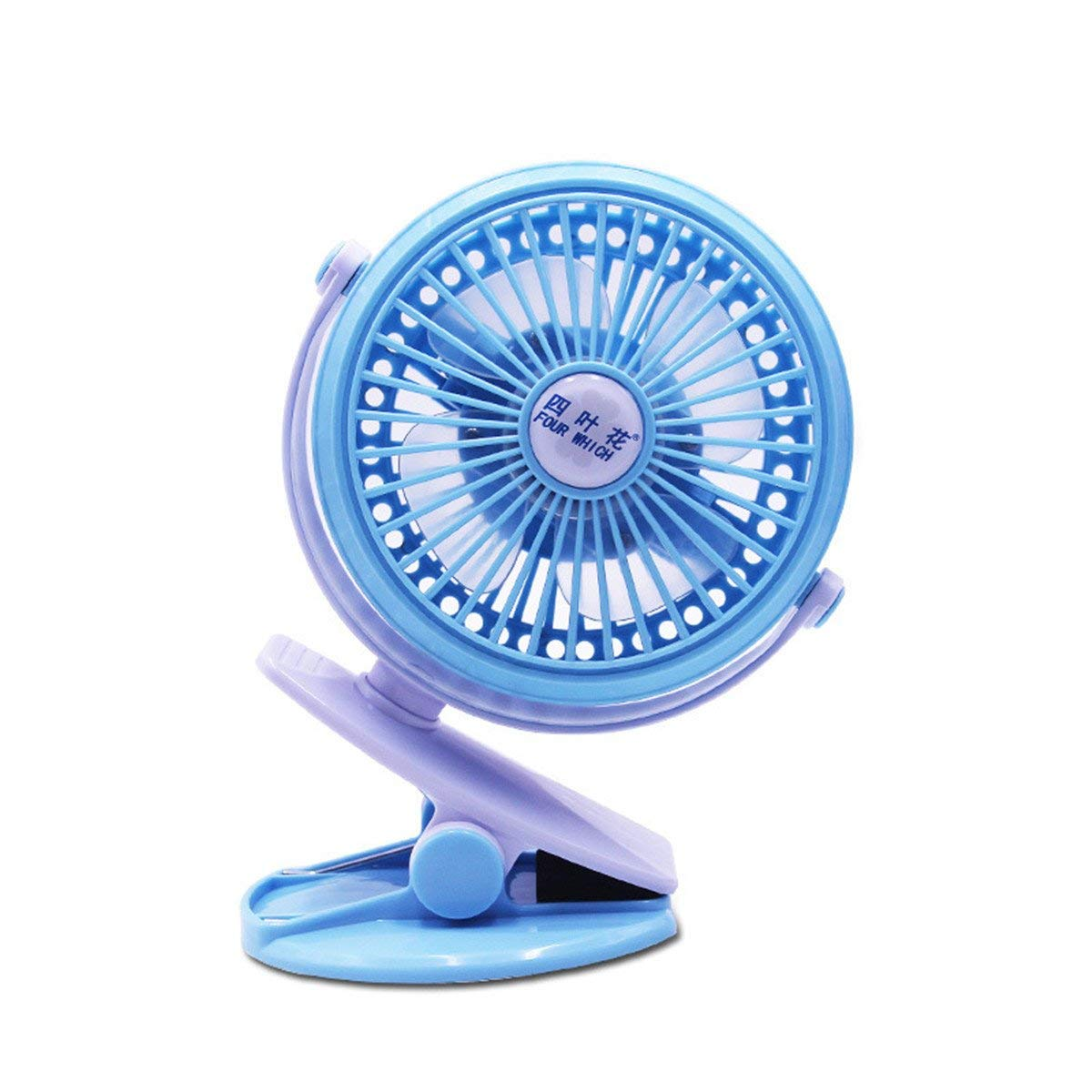Quiet Desk Fan USB, 360 Adjustable Wind, Personal Clip or Desk Fan with 3 Speeds, Portable USB Powered Mini Personal Clip on Fan for Home, Office, Bedroom (blue)