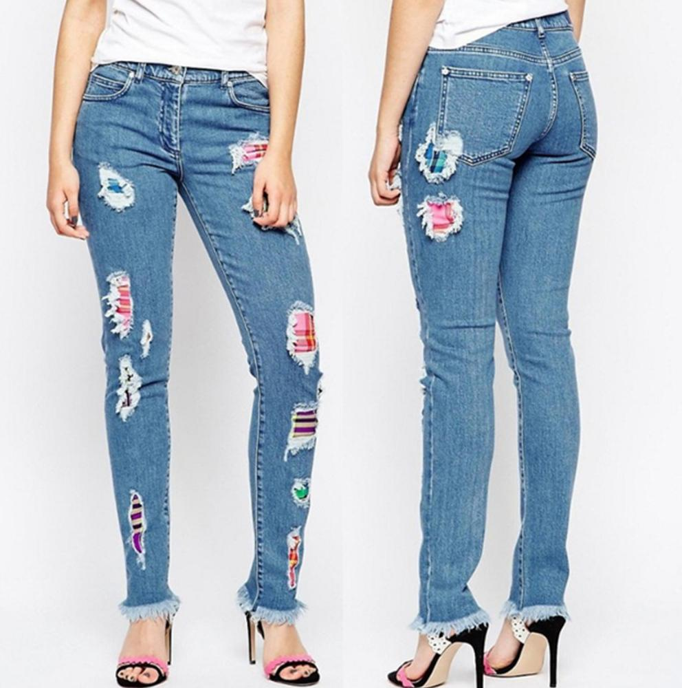 Teen girls embroidered pants 6