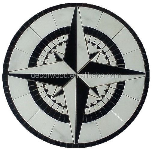 high quality compass medallion stone parquet stone